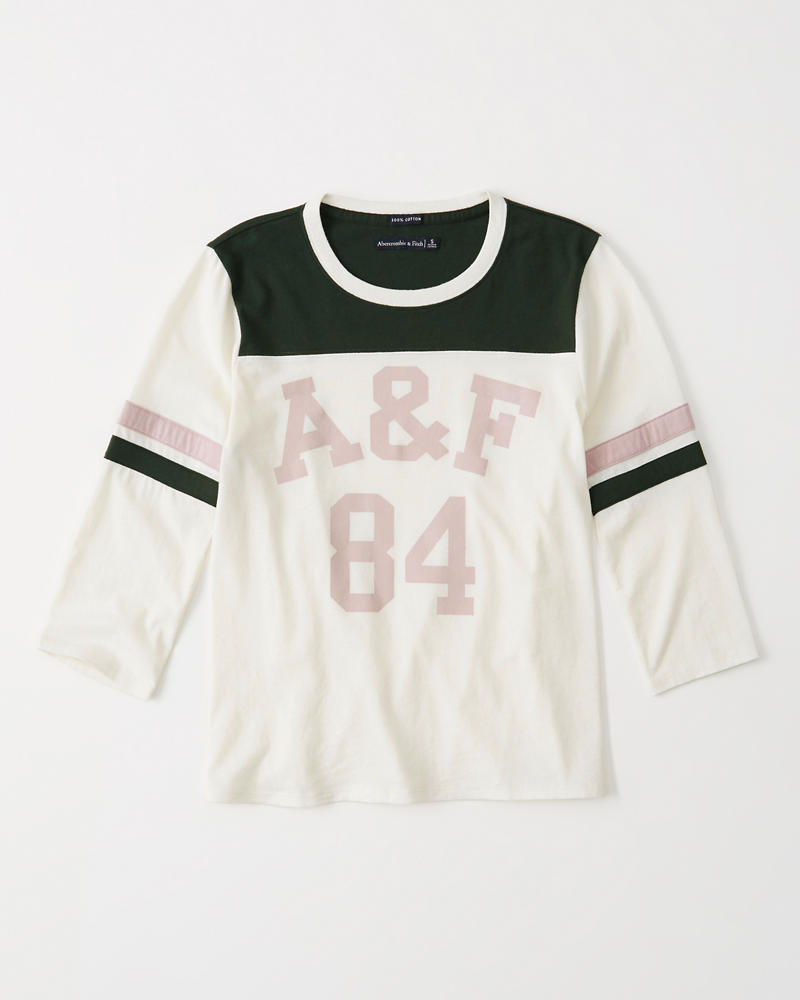 ab6ab612 Womens Colorblock Varsity Tee | Womens Clearance | Abercrombie.com