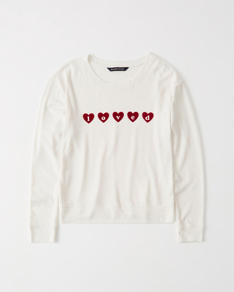Womens Cozy Long-Sleeve Graphic Tee  886e17b27b4