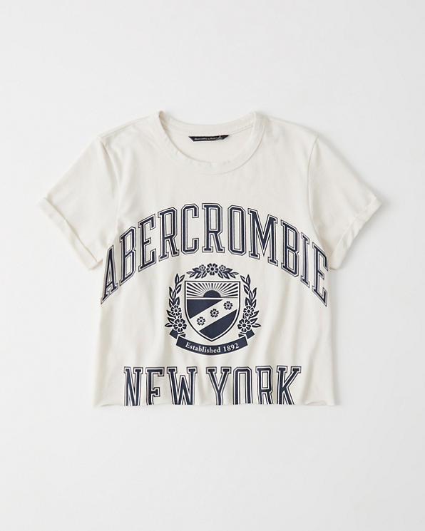 952816e42 Womens Short-Sleeve Fleece Logo Tee | Womens Tops | Abercrombie.com