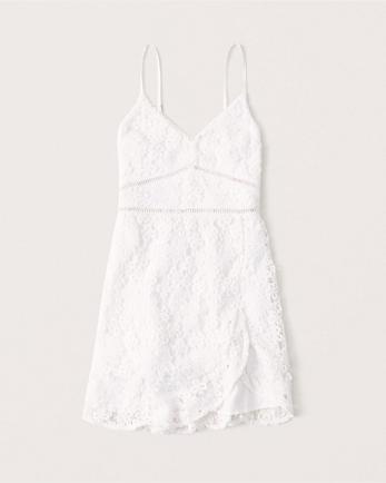 ANFWrap-Front Lace Dress