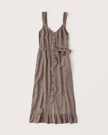 ANFRuffle Midi Dress