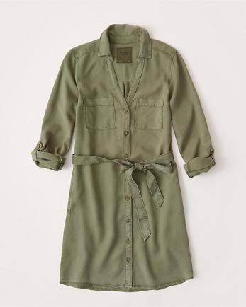 ANFTie-Waist Shirt Dress