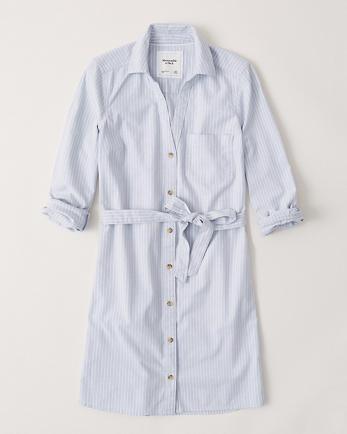 ANFButton-Front Shirt Dress