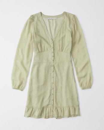 ANFRuffle-Hem A-Line Dress