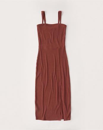 ANFStrapless Knit Midi Dress