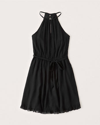 ANFChiffon Halter Dress
