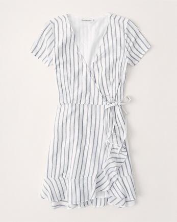 ANFRuffle Hem Wrap Dress