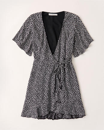 ANFRuffle Hem Wrap Dress