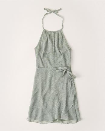 ANFRuffle Hem Halter Dress