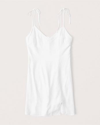 ANFLinen-Blend Slip Dress