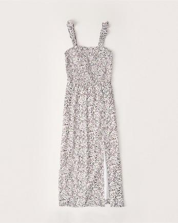 ANFSmocked Midi Dress