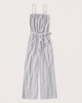 ANFStrapless Tie-Waist Jumpsuit