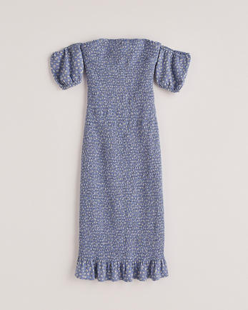 ANFPerfect Puff Sleeve Midi Dress