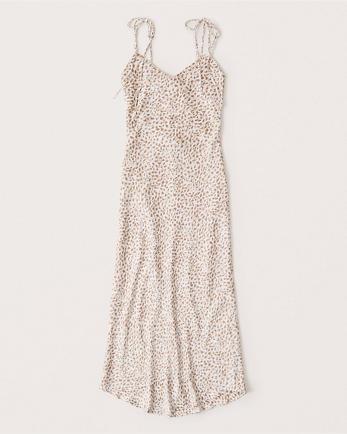 ANFTie-Strap Midi Dress