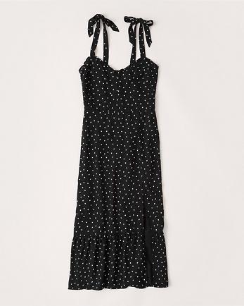 ANFTiered-Hem Midi Dress