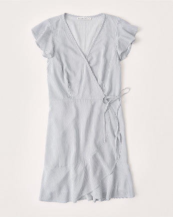 ANFShort-Sleeve Wrap Dress