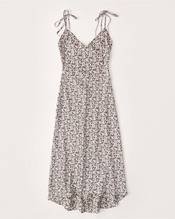 ANFHigh-Low Satin Slip Dress