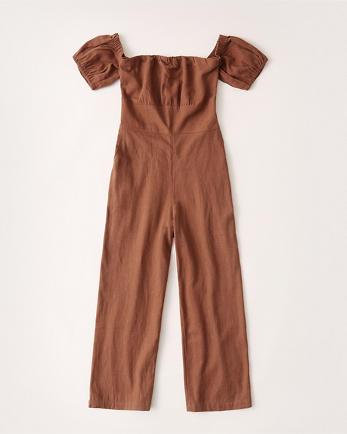 ANFPuff Sleeve Jumpsuit