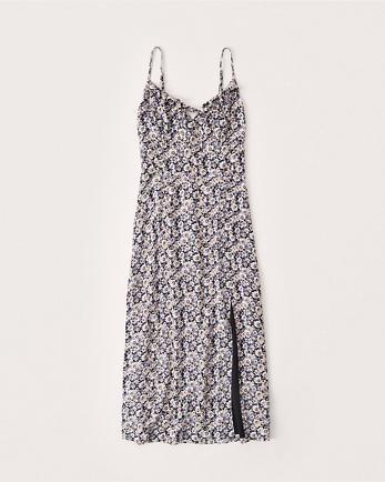 ANFHigh-Slit Midi Dress