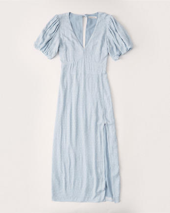 ANFPuff Sleeve Midi Dress