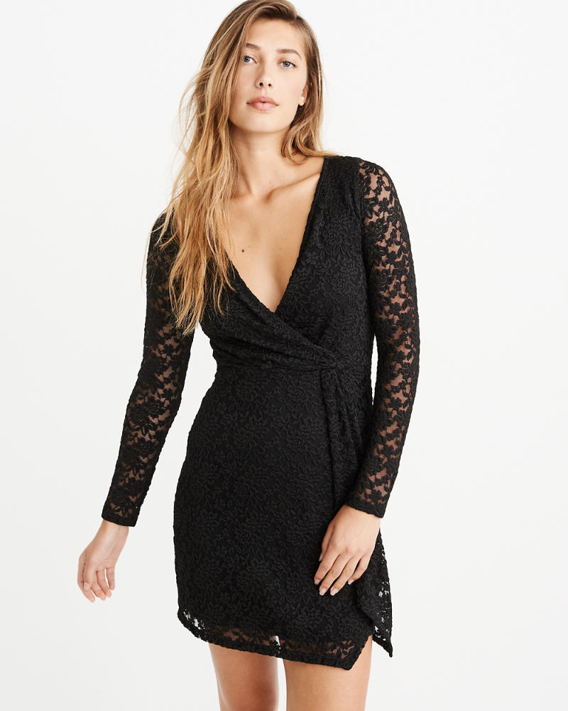 Twist Front Lace Dress by Abercrombie & Fitch