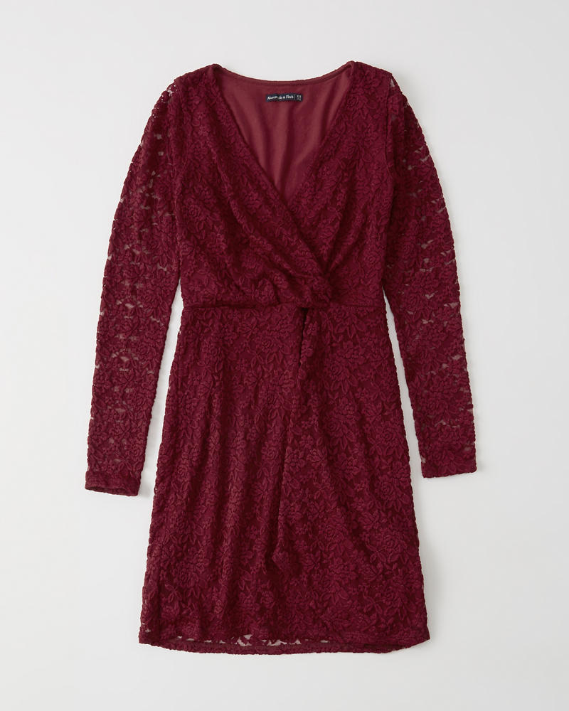 1868ccc205 Twist-Front Lace Dress | Abercrombie.sg
