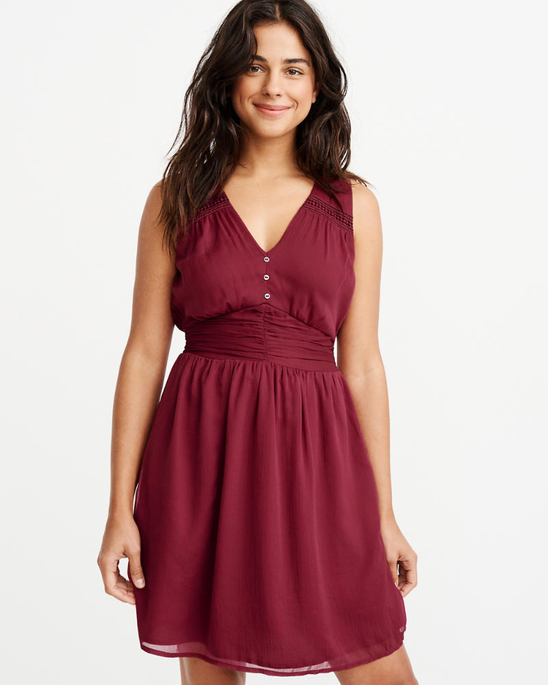 Sleeveless Button Front Dress by Abercrombie & Fitch