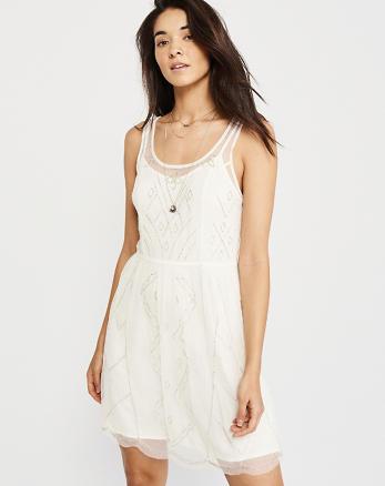 Embellished Shine Dress White
