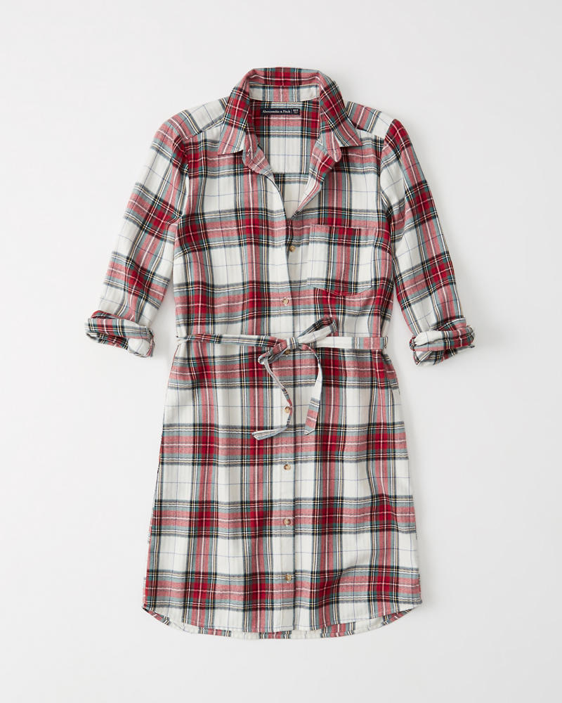 1a85e4d54d9 Womens Flannel Shirt Dress