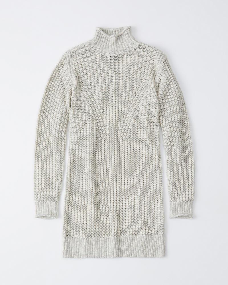 Womens Vestido de suéter con cuello alto | Womens Dresses ...