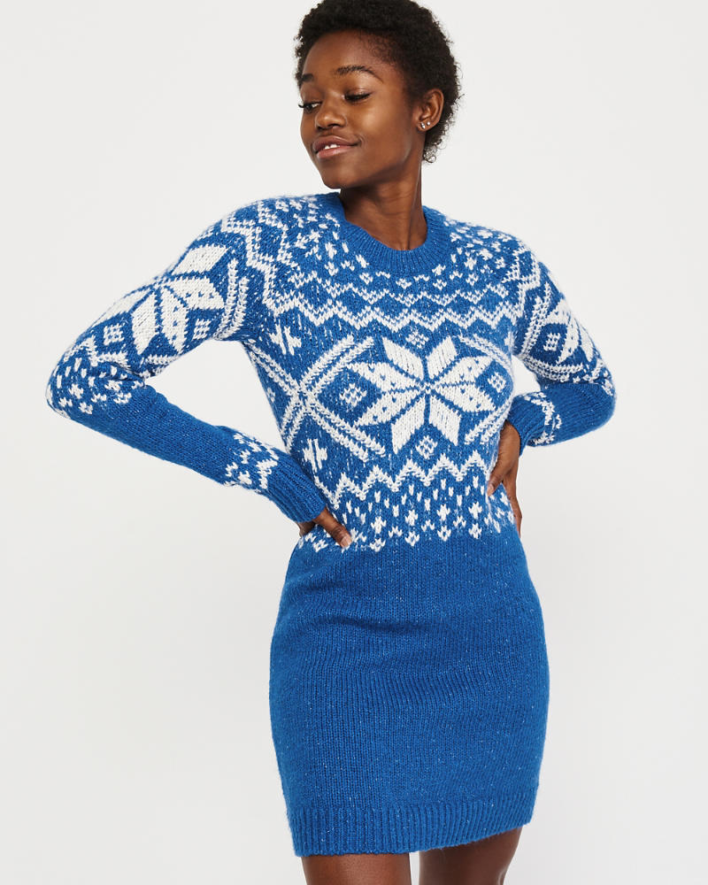 Holiday Sweater Dress by Abercrombie & Fitch