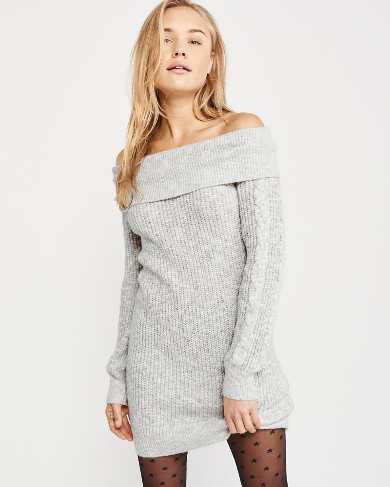 Schulterfreies Pulloverkleid by Abercrombie & Fitch