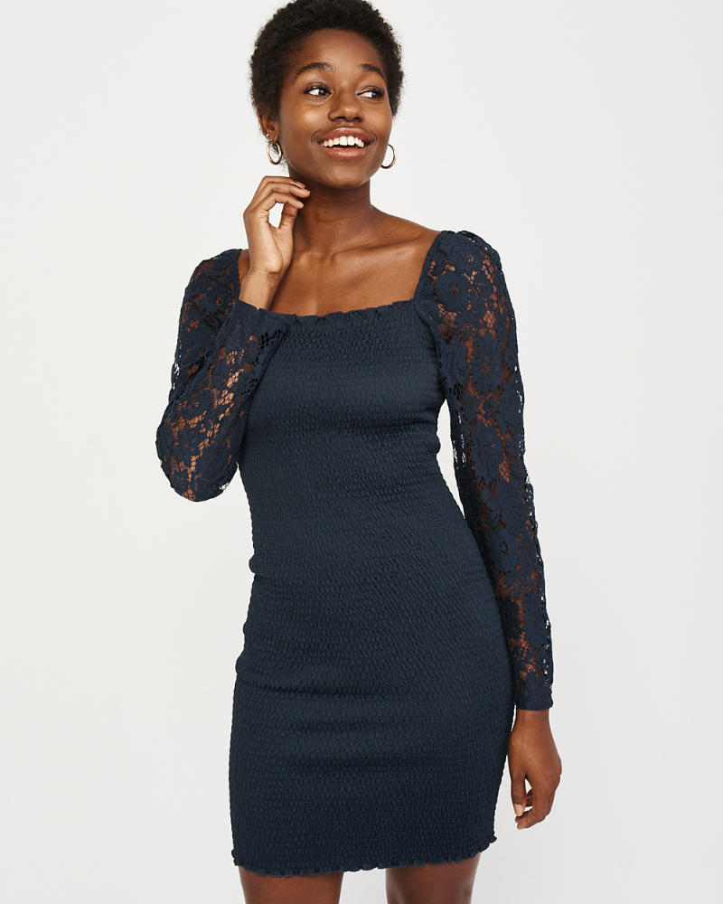 6ae0ad58d4331 Womens Smocked Bodycon Dress | Womens Clearance | Abercrombie.com