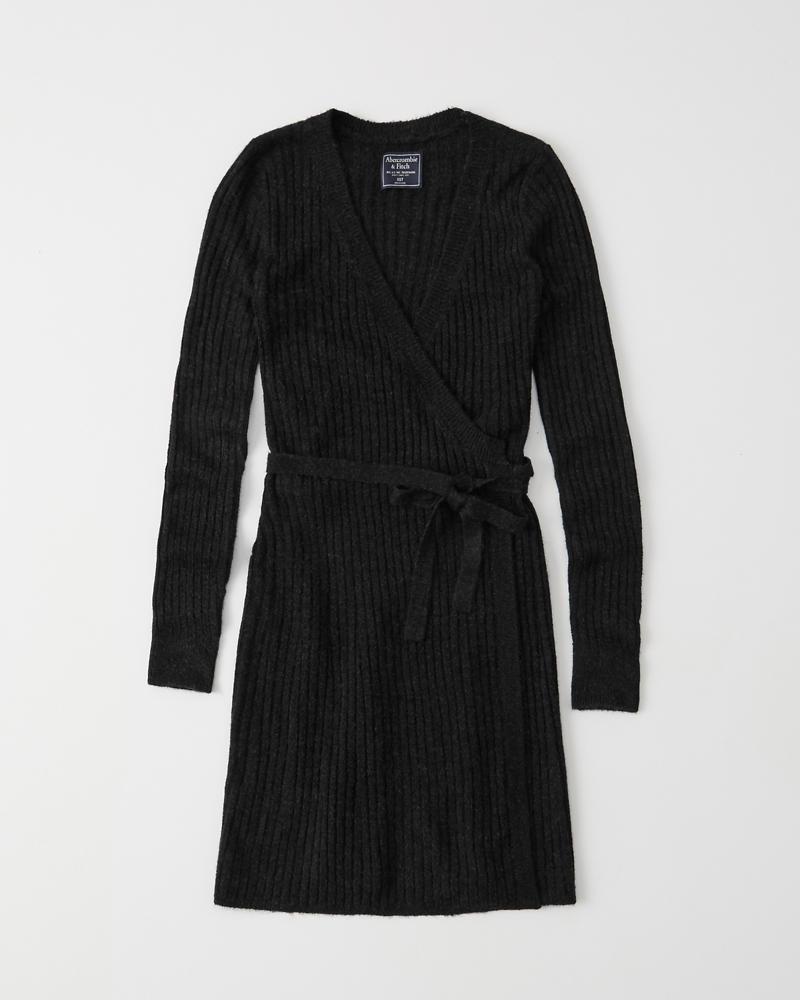 New estilo ribeteado Womens suéter cruzado y Vestido Womens fwUqS71