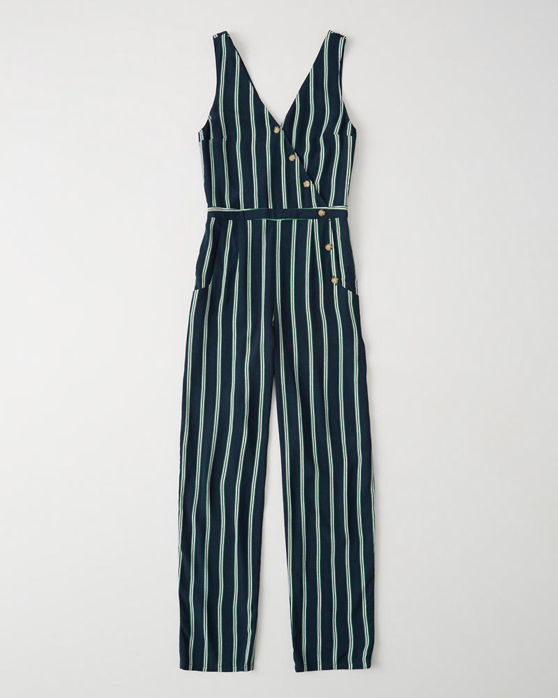 Asymmetrical Button Front Jumpsuit by Abercrombie & Fitch