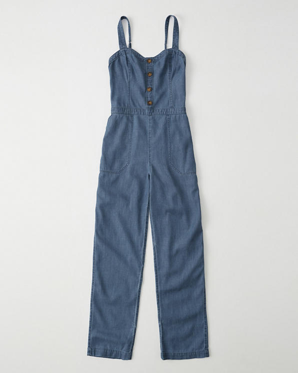 beautiful in colour clearance sale wide selection of colors Womens Denim Jumpsuit   Womens Clearance   Abercrombie.com