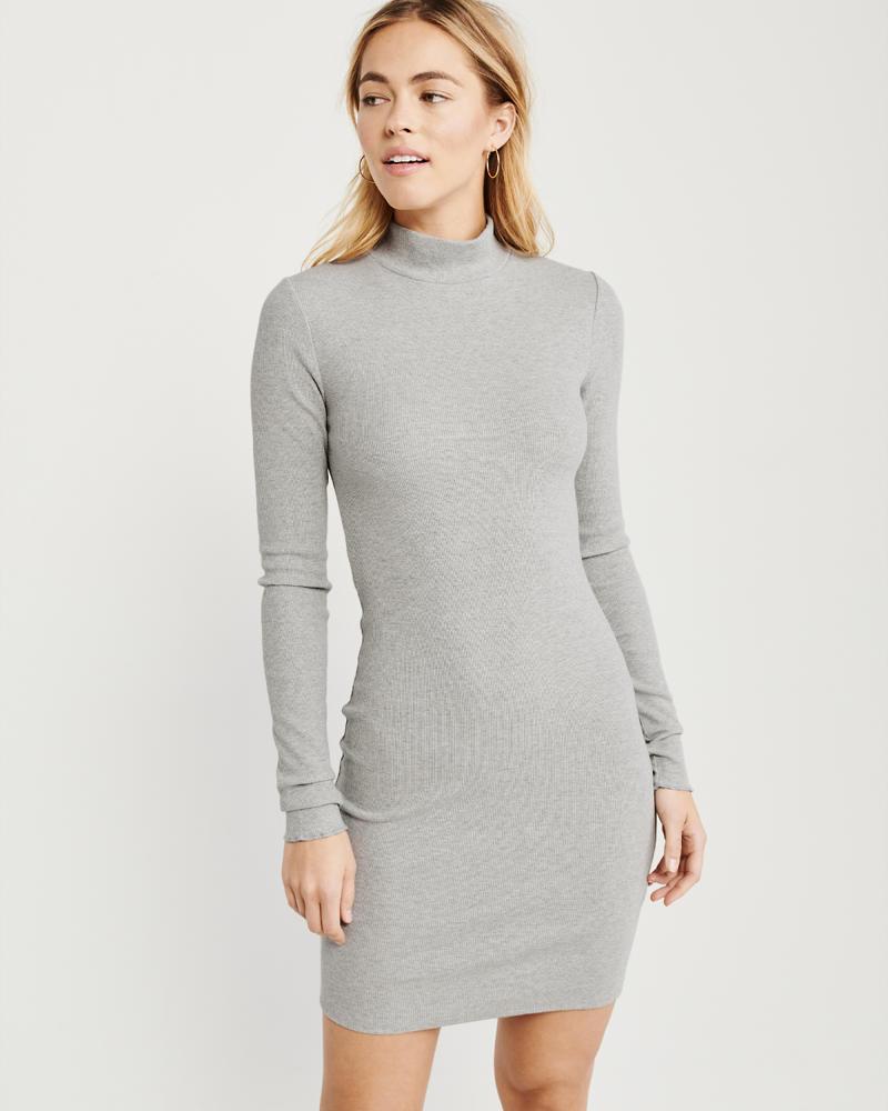 36e432fb Knit Mock Neck Dress | Abercrombie.sg