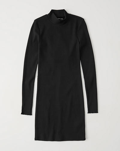 Knit Mock Neck Dress by Abercrombie & Fitch
