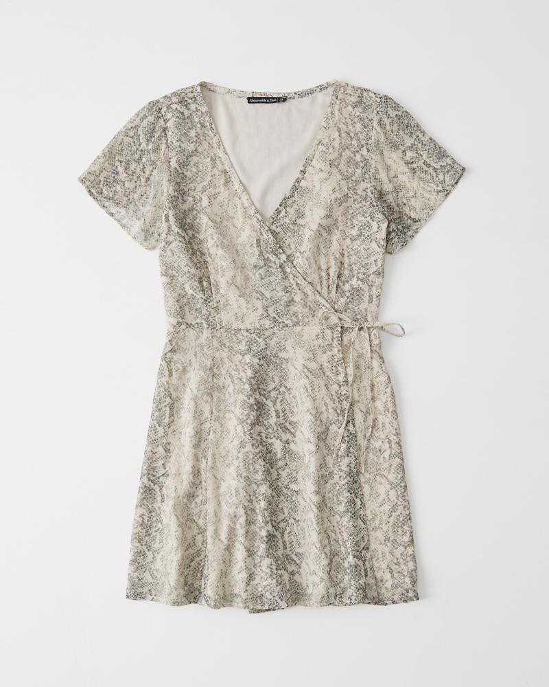 737a66b4353d2 Short-Sleeve Wrap Dress | Abercrombie.sg