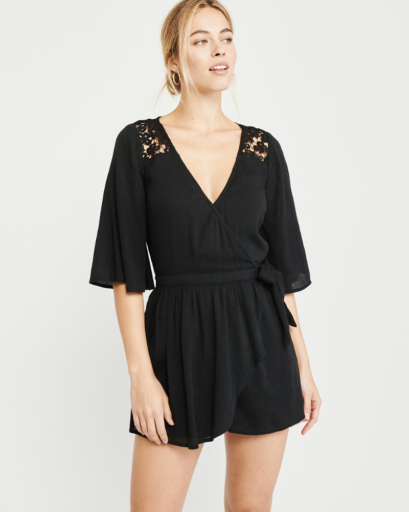Lace Trim Romper by Abercrombie & Fitch
