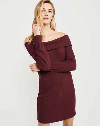 3d1b5886a771bc Off-The-Shoulder Cozy Dress