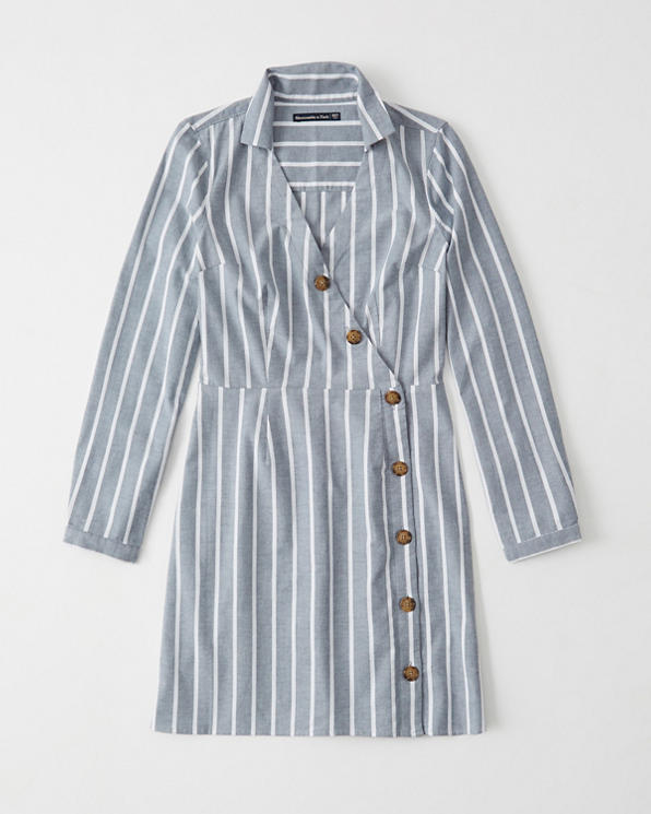 official price factory price genuine shoes Womens Oxford Shirt Dress | Womens Sale | Abercrombie.com