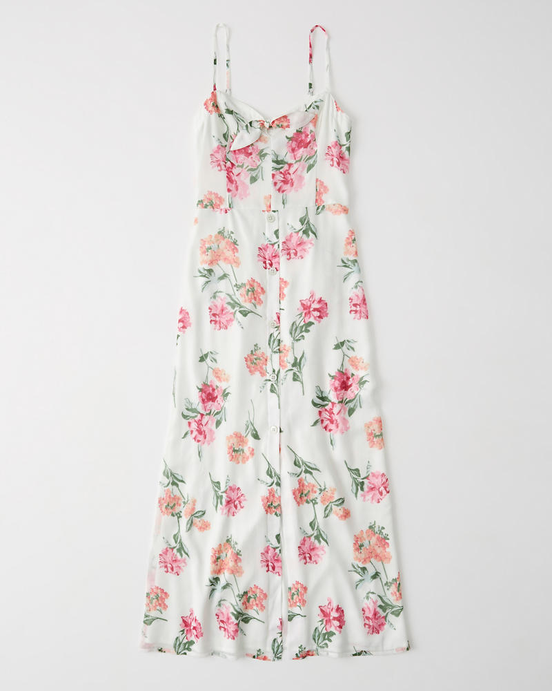 d5019221 Shoptagr | Button Up Maxi Dress by Abercrombie & Fitch