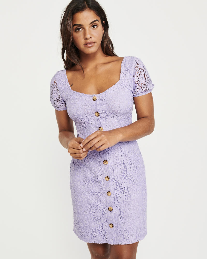 Button Up Lace Dress by Abercrombie & Fitch