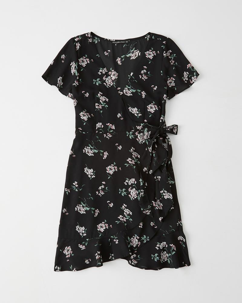 912964d401797 Womens Short-Sleeve Wrap Dress | Womens Clearance | Abercrombie.com