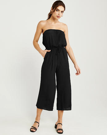 c24cd6a45dc Strapless Drawstring-Waist Jumpsuit