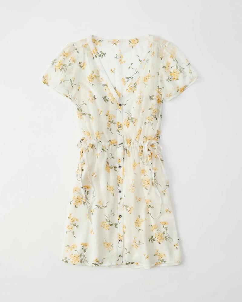 d071f8bf3d Womens Chiffon Shirtdress | Womens Dresses & Rompers | Abercrombie.com