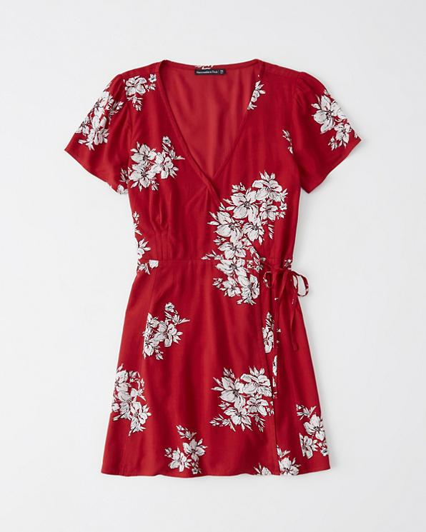 9ddaadf52ceb Womens Short-Sleeve Wrap Dress | Womens Dresses & Rompers ...