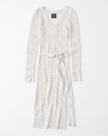 ANFTie-Waist Sweater Dress