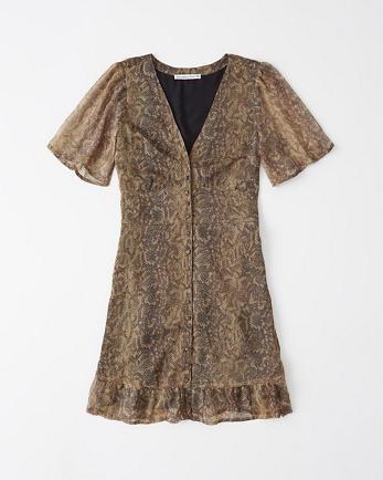 ANFRuffle-Hem Mini Dress